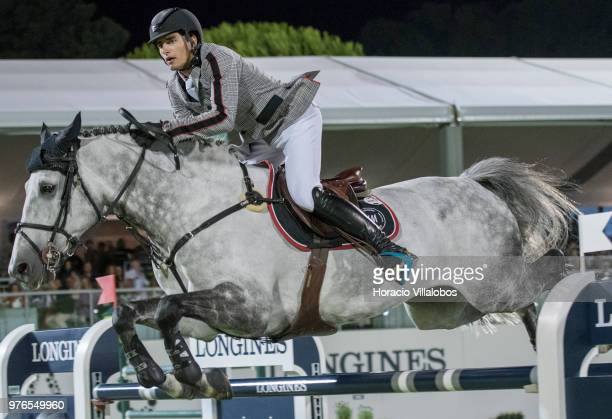 Nicola Philippaerts rides to victory on horse H and M Harley vd Bisschop at 'CSI 5' Longines Global Champions Tour Grand Prix of Cascais Estoril 160m...