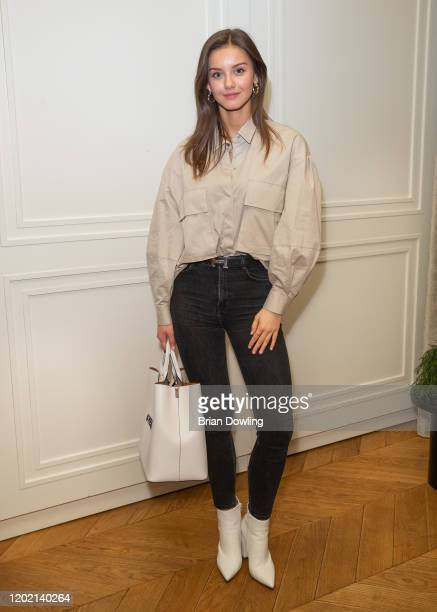 Nicola Rade attends the Save the Duck Kitchen Party Kickoff Ispo at Roomers Munich on January 26 2020 in Munich Germany