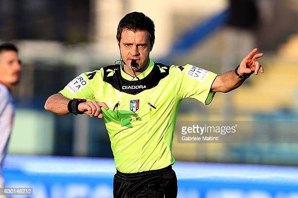 Nicola Rizzoli referee during the Serie A match between Empoli FC and Cagliari Calcio at Stadio Carlo Castellani on December 17 2016 in Empoli Italy
