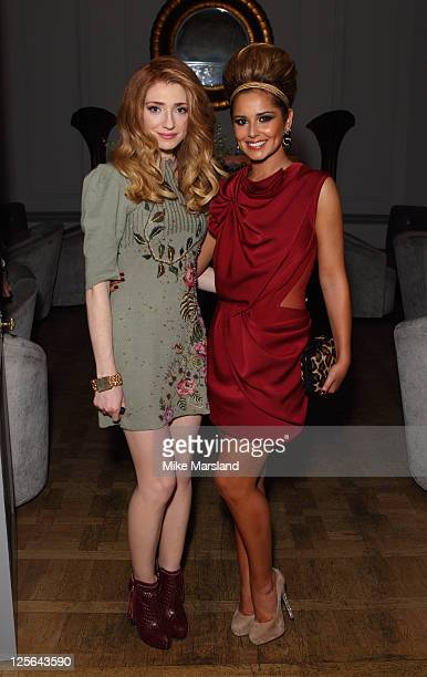 Nicola Roberts and Cheryl Cole arrives at Stylistpickcom's London Fashion Week party hosted by Cheryl Cole at Home House on September 19 2011 in...