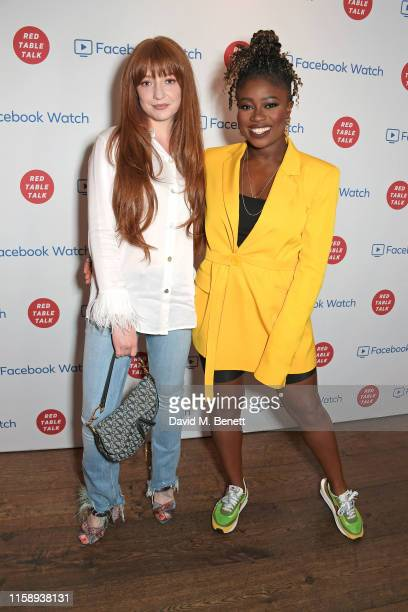 Nicola Roberts and Clara Amfo attend the Facebook Watch: Red Table Talk screening, hosted by Jada Pinkett Smith, at The Ham Yard Hotel on August 1,...