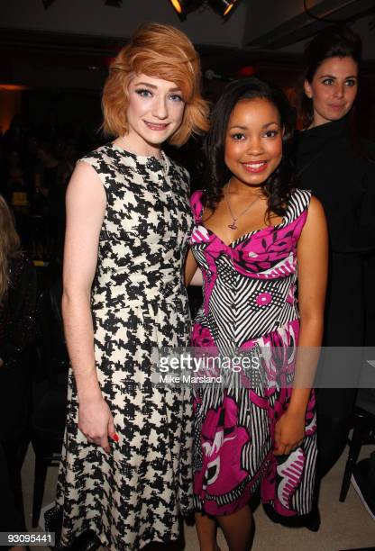 Nicola Roberts and Dionne Bromfield attend the Anglomania show by Vivienne Westwood at Selfridges on November 16 2009 in London England