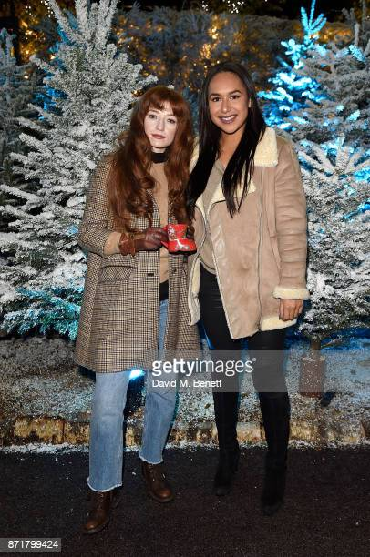 Nicola Roberts and Heather Watson attend the launch of The Winter Forest at Exchange Square Broadgate in association with Centrepoint on November 8...