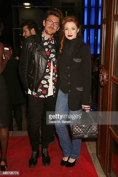 Nicola Roberts and Henry Holland attend the launch of Zebrano Restaurant on November 4 2015 in London England