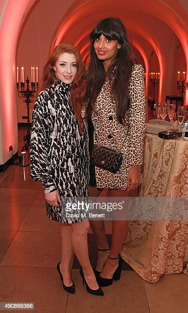 Nicola Roberts and Jameela Jamil attend a fundraising event in aid of the Nepal Youth Foundation hosted by David Walliams at Banqueting House on...