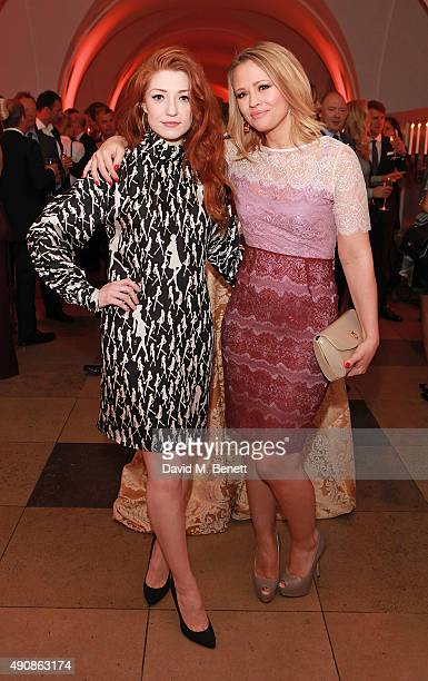 Nicola Roberts and Kimberley Walsh attend a fundraising event in aid of the Nepal Youth Foundation hosted by David Walliams at Banqueting House on...