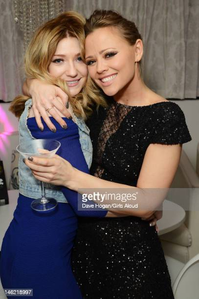 Nicola Roberts and Kimberley Walsh attends a party to celebrate Kimberley Walsh's last appearance as Princess Fiona in the musical 'Shrek' at Vanilla...