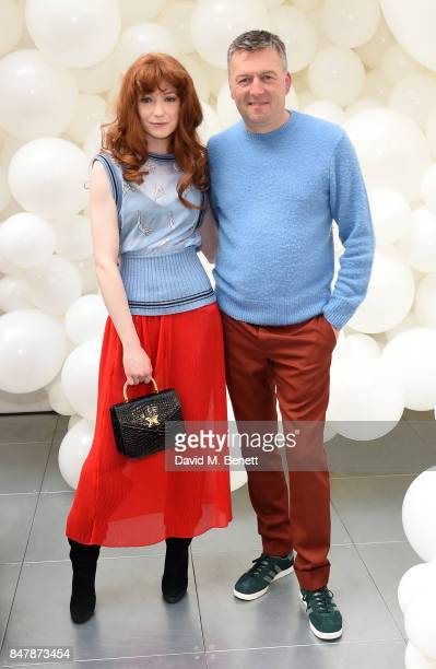 Nicola Roberts and Markus Lupfer attend the Markus Lupfer SS18 presentation during London Fashion Week September 2017 on September 16 2017 in London...