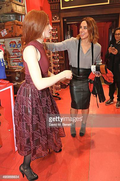 Nicola Roberts and Mel C attend the press night after party for 'Elf The Musical' at the Dominion Theatre on November 5 2015 in London England
