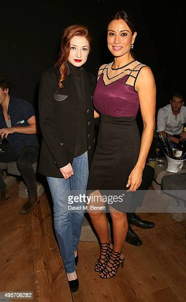 Nicola Roberts and Melanie Sykes attend the launch of Zebrano Restaurant on November 4 2015 in London England