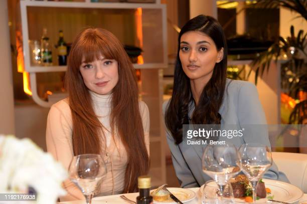 Nicola Roberts and Neelam Gill attend the launch of Galerie BehnamBakhtiar and the private view of 'Human Being Being Human' by Farzad Kohan on...
