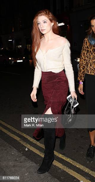 Nicola Roberts attending the JF London a/w1617 presentation and party at the W hotel on February 22 2016 in London England