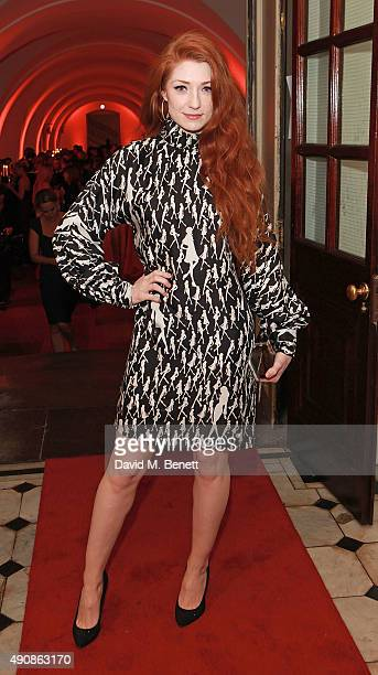 Nicola Roberts attends a fundraising event in aid of the Nepal Youth Foundation hosted by David Walliams at Banqueting House on October 1 2015 in...