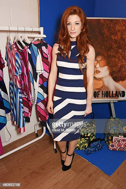Nicola Roberts attends a private dinner to showcase the House Of Holland Resort 16 collection at the House Of Holland studios on July 16 2015 in...