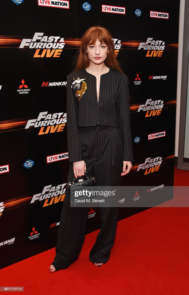 Nicola Roberts attends the Global Premiere of 'Fast and Furious Live' at The O2 Arena on January 19, 2018 in London, England.