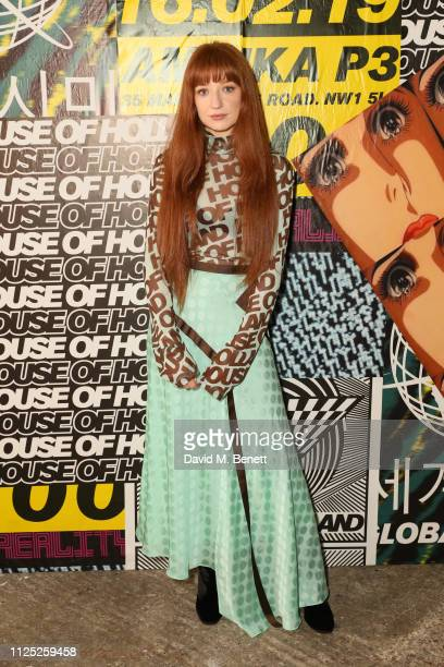 Nicola Roberts attends the House of Holland AW19 London Fashion Week catwalk show showcasing the limitededition Vype ePen 3 / vaping pendant created...