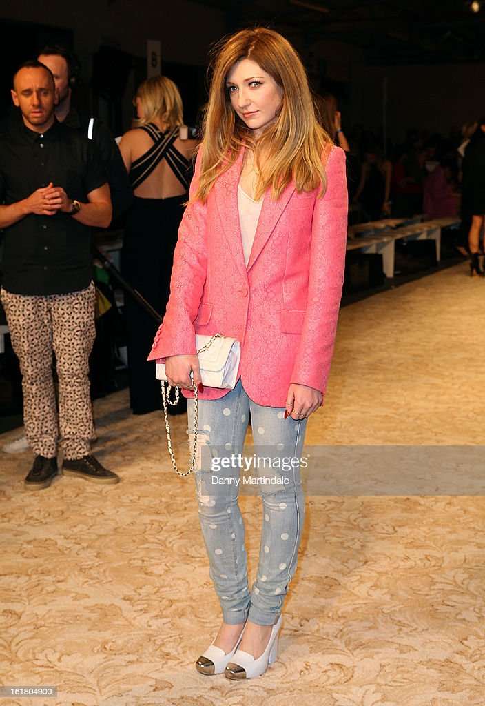 Nicola Roberts attends the House of Holland show during London Fashion Week Fall/Winter 2013/14 at Brewer Street Car Park on February 16, 2013 in London, England.