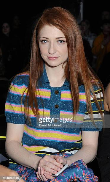 Nicola Roberts attends the House of Holland show during London Fashion Week Fall/Winter 2015/16 at University of Westminster on February 21 2015 in...