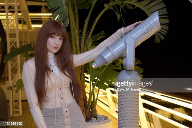 Nicola Roberts attends the launch of Galerie BehnamBakhtiar and the private view of 'Human Being Being Human' by Farzad Kohan on December 05 2019 in...