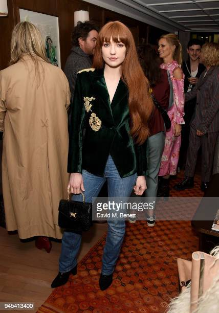 Nicola Roberts attends the launch of issue 6 of the IngŽnue Magazine in partnership with Koko Kanu at Mortimer House on April 12 2018 in London...