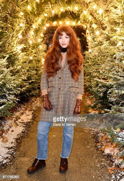 Nicola Roberts attends the launch of The Winter Forest at Exchange Square Broadgate in association with Centrepoint on November 8 2017 in London...