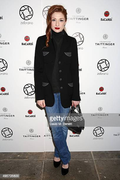 Nicola Roberts attends the launch of Zebrano Restaurant on November 4 2015 in London England