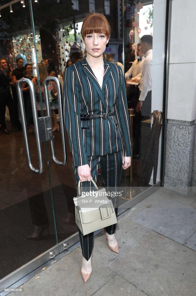 Nicola Roberts attends the Magnum London Launch at Duke of York Square on July 5, 2018 in London, England.
