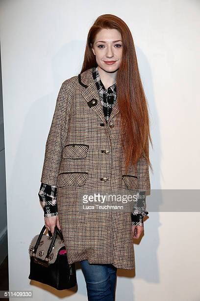 Nicola Roberts attends the Markus Lupfer show during London Fashion Week Autumn/Winter 2016/17 at on February 20 2016 in London England