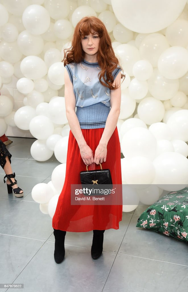 Nicola Roberts attends the Markus Lupfer SS18 presentation during London Fashion Week September 2017 on September 16, 2017 in London, United Kingdom.