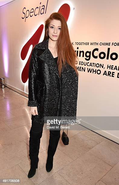 Nicola Roberts attends the Special K Bring Colour Back launch at The Hospital Club on October 7 2015 in London England