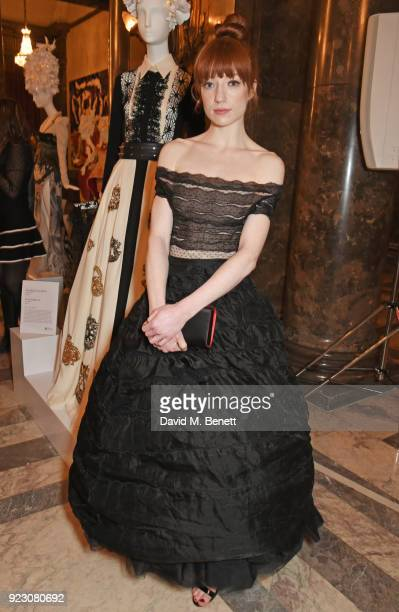 Nicola Roberts attends the VIP preview of the Commonwealth Fashion Exchange exhibition at the High Commission of Australia on February 22 2018 in...