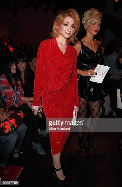 Nicola Roberts attends the Vivienne Westwood Red Label show part of London London Fashion Week Spring/Summer 2010 on September 20 2009 in London...