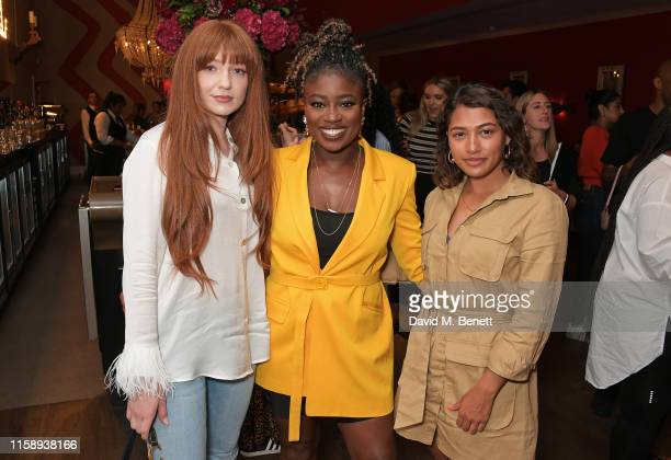 Nicola Roberts, Clara Amfo and Vanessa White attend the Facebook Watch: Red Table Talk screening, hosted by Jada Pinkett Smith, at The Ham Yard Hotel...