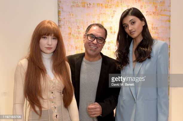 Nicola Roberts Farzad Kohan and Neelam Gill attend the launch of Galerie BehnamBakhtiar and the private view of 'Human Being Being Human' by Farzad...