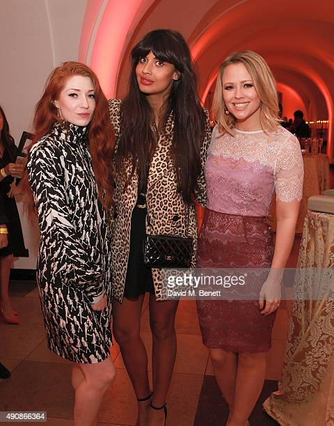 Nicola Roberts Jameela Jamil and Kimberley Walsh attend a fundraising event in aid of the Nepal Youth Foundation hosted by David Walliams at...