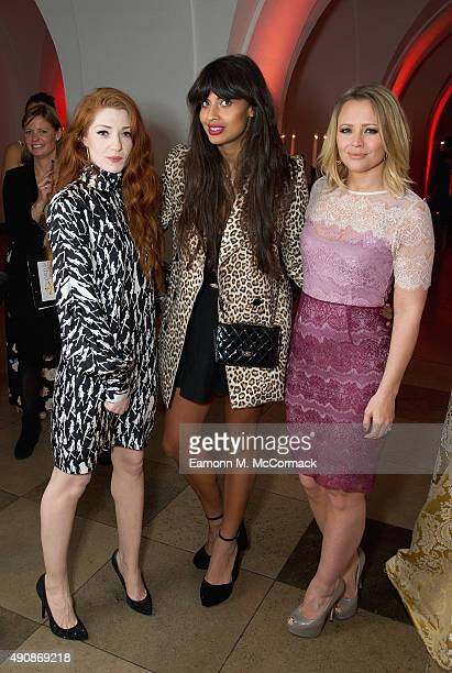 Nicola Roberts Jameela Jamil and Kimberley Walsh attend a fundraising event in aid of the Nepal Youth Foundation at Banqueting House on October 1...