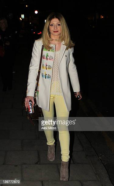 Nicola Roberts leaves a TV studio in east London where earlier Rihanna had also been filming on February 24 2012 in London England