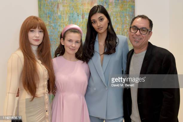 Nicola Roberts Maria BehnamBakhtiar Neelam Gill and Farzad Kohan attend the launch of Galerie BehnamBakhtiar and the private view of 'Human Being...