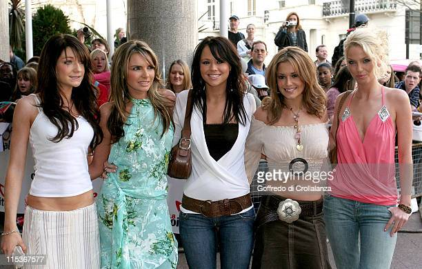 Nicola Roberts Nadine Coyle Kimberley Walsh Cheryl Tweedy and Sarah Harding of Girls Aloud