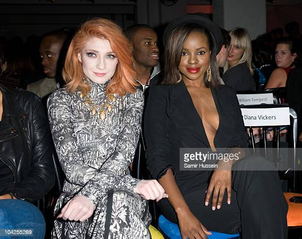 Nicola Roberts of Girls Aloud and Keisha Buchanan attend Fashion Fringe fashion show in Covent Garden during London Fashion Week on September 18 2010...