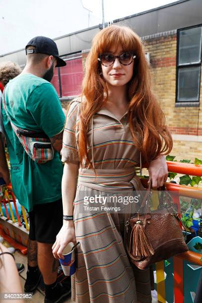 Nicola Roberts on board the Red Bull Music Academy x Magrove float at Notting Hill Carnival on August 28 2017 in London England
