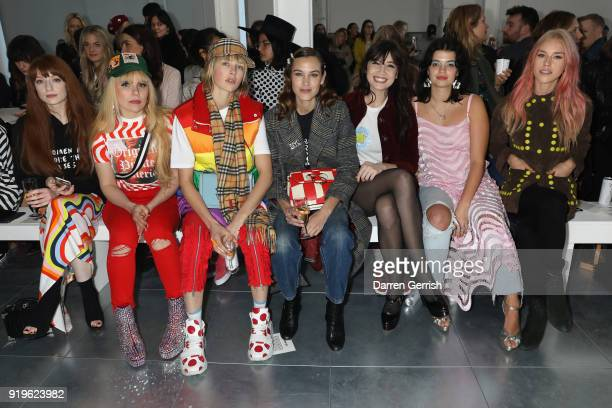Nicola Roberts Paloma Faith Edie Campbell Alexa Chung Daisy Lowe Pixie Geldof and Lady Mary Charteris attend the House of Holland show during London...