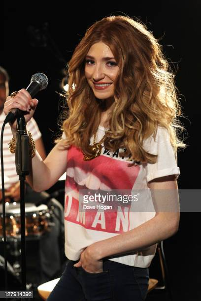 Nicola Roberts performs for a Biz Session to promote her new album 'Cinderella's Eyes' on September 13 2011 in London United Kingdom