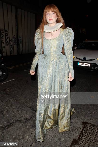 Nicola Roberts seen arriving at Hallowzeem Party in Shoreditch on October 26 2018 in London England