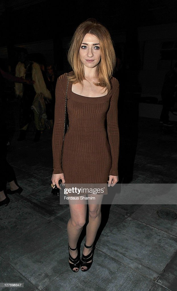 Nicola Roberts seen at the front row at the Unique show at London Fashion Week Autumn/Winter 2011 on February 20, 2011 in London, England.