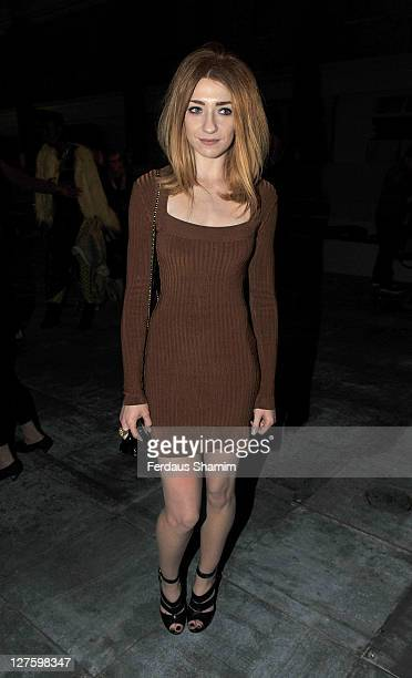 Nicola Roberts seen at the front row at the Unique show at London Fashion Week Autumn/Winter 2011 on February 20 2011 in London England