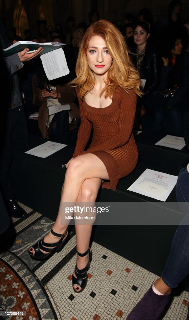 Nicola Roberts seen in the front row at the Vivienne Westwood show at London Fashion Week Autumn/Winter 2011 on February 20, 2011 in London, England.