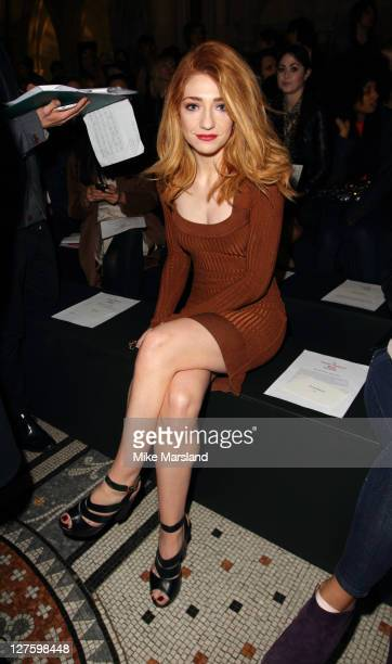 Nicola Roberts seen in the front row at the Vivienne Westwood show at London Fashion Week Autumn/Winter 2011 on February 20 2011 in London England