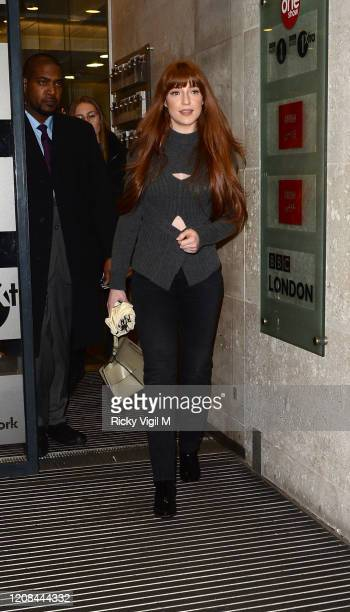 Nicola Roberts seen leaving The One Show on February 24 2020 in London England