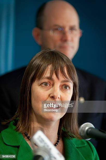 Nicola Roxon Australia's minister of health and aging speaks at a news conference launching the National Pandemic Influenza Vaccination Campaign at...